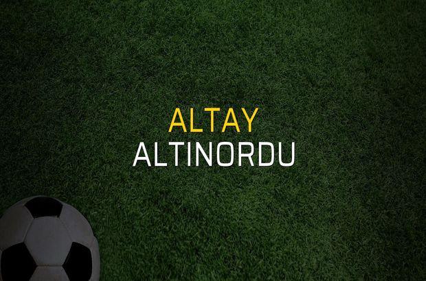 Altay - Altınordu maçı ne zaman?