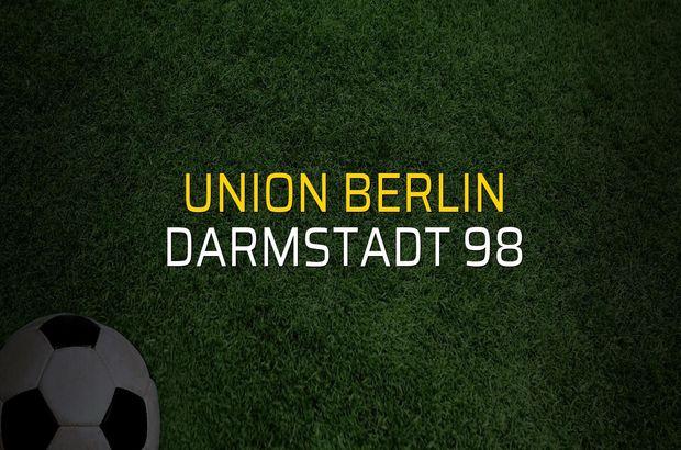 Union Berlin - Darmstadt 98 maçı öncesi rakamlar