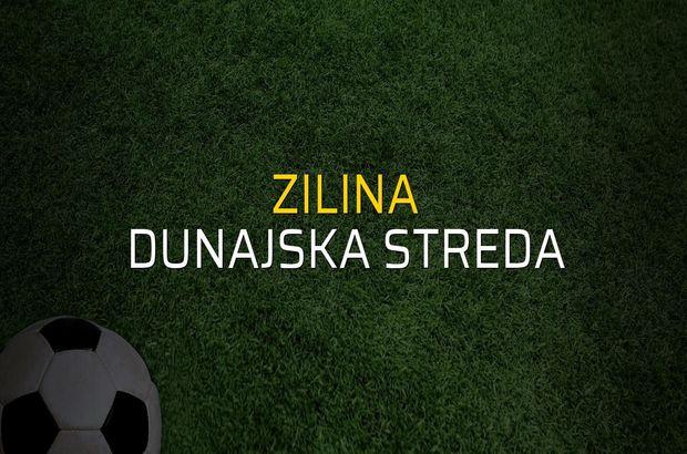Zilina - Dunajska Streda maçı istatistikleri