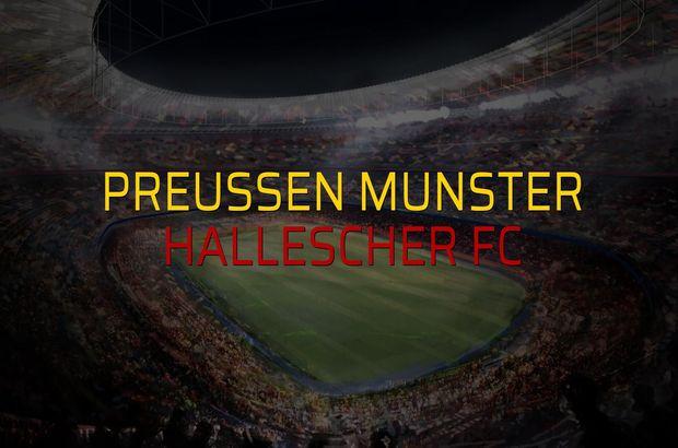 Preussen Munster - Hallescher FC sahaya çıkıyor