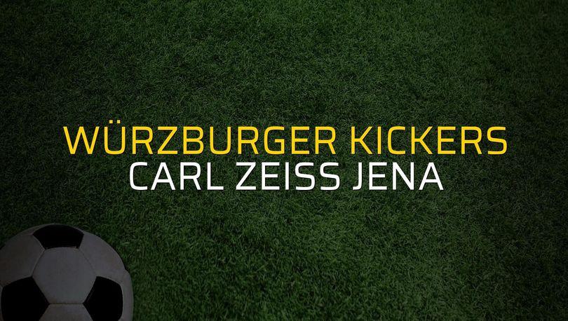 Würzburger Kickers - Carl Zeiss Jena karşılaşma önü