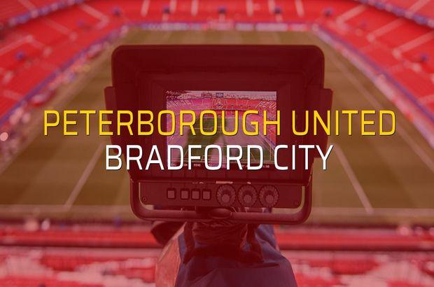 Peterborough United - Bradford City maç önü