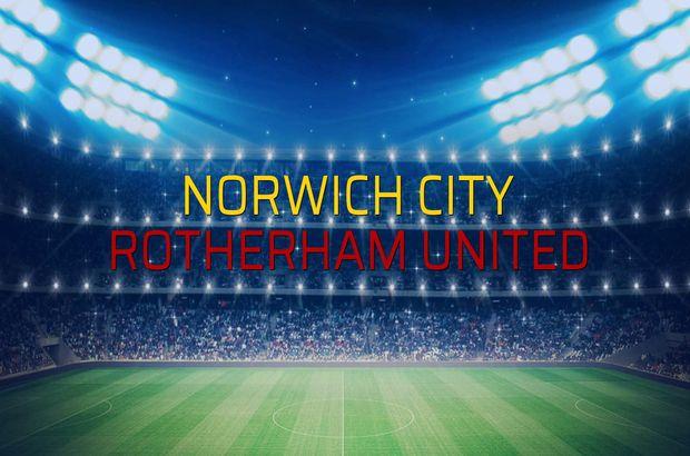 Norwich City - Rotherham United maçı istatistikleri
