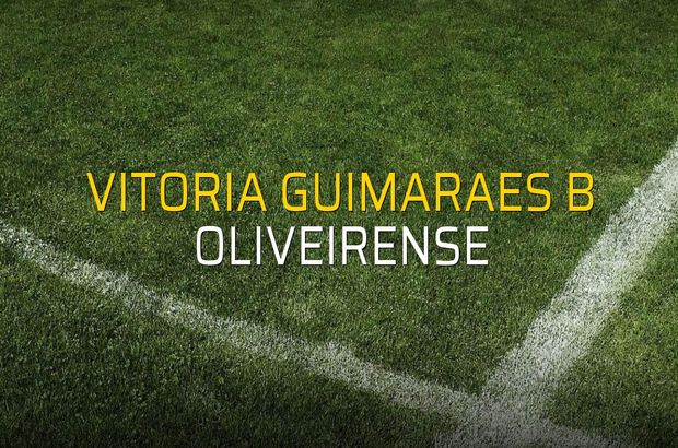 Vitoria Guimaraes B - Oliveirense maçı heyecanı