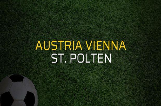 Austria Vienna - St. Polten maçı heyecanı