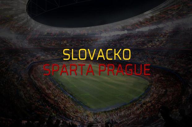 Slovacko - Sparta Prague maçı heyecanı