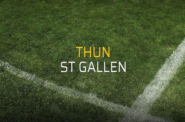 Thun - St Gallen maçı ne zaman?