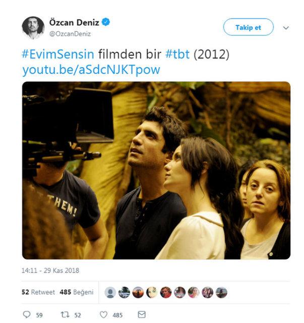 Özcan Deniz'den Burak Özçivit'in eşi Fahriye Evcen'li fotoğrafa açıklama - Magazin haberleri