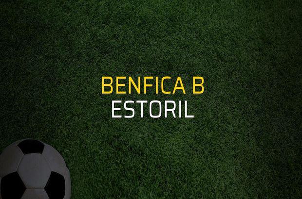 Maç sona erdi: Benfica B: 1 - Estoril:0