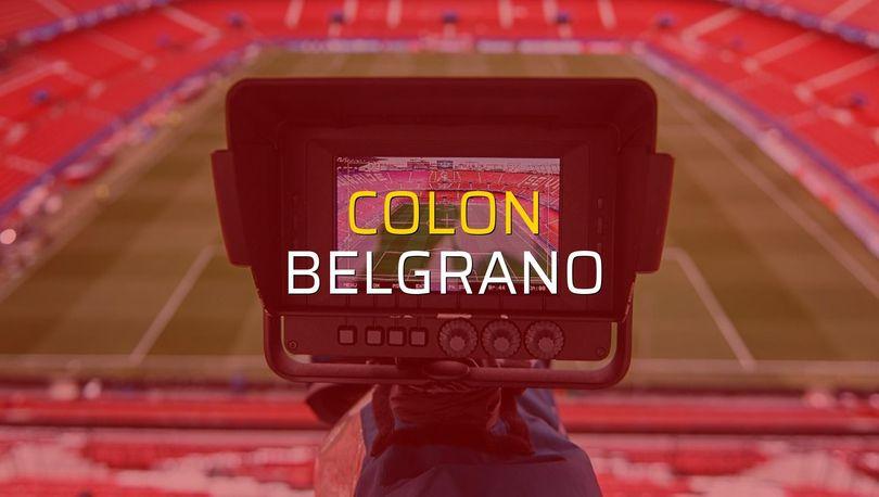Maç sona erdi: Colon: 1 - Belgrano:1