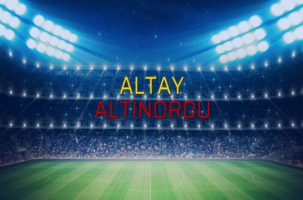 Altay: 1 - Altınordu: 2 (Maç sona erdi)