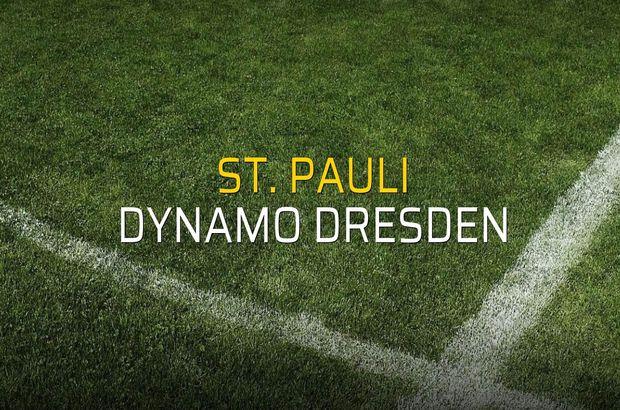 St. Pauli: 1 - Dynamo Dresden: 1 (Maç sona erdi)