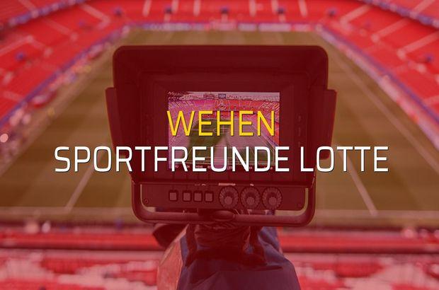 Maç sona erdi: Wehen: 2 - Sportfreunde Lotte:0