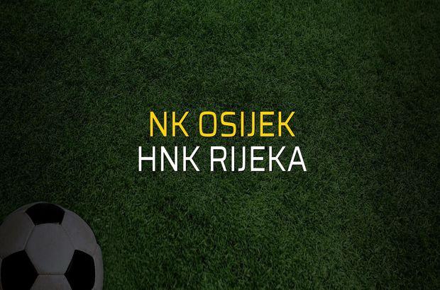 NK Osijek: 1 - HNK Rijeka: 2 (Maç sona erdi)