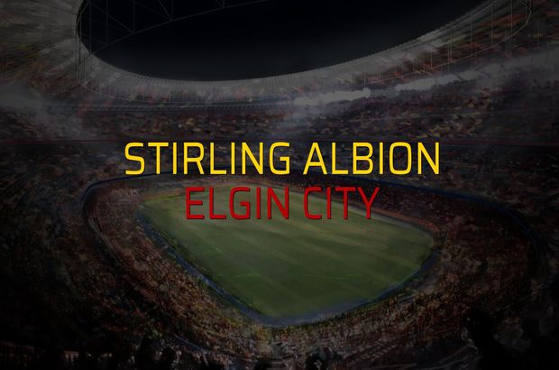 Stirling Albion: 4 - Elgin City: 2 (Maç sona erdi)