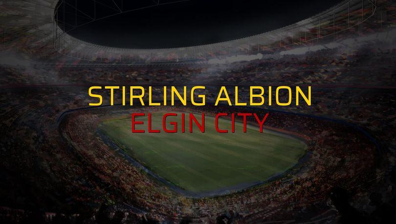 Stirling Albion: 4 - Elgin City: 2 (Maç sona erdi)