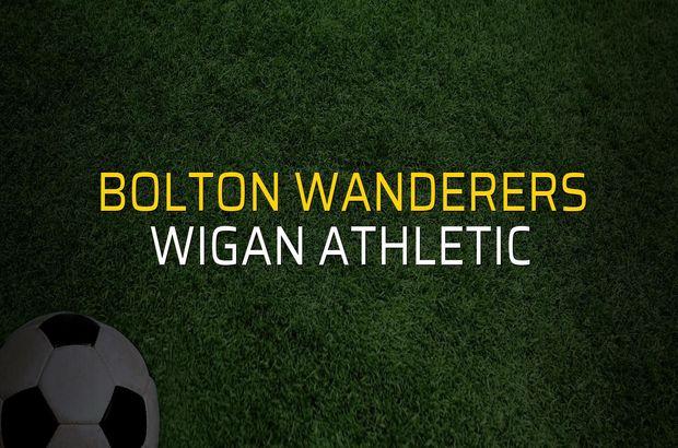 Maç sona erdi: Bolton Wanderers: 1 - Wigan Athletic:1