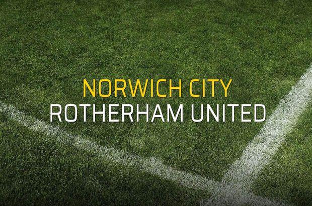 Norwich City: 3 - Rotherham United: 1 (Maç sonucu)