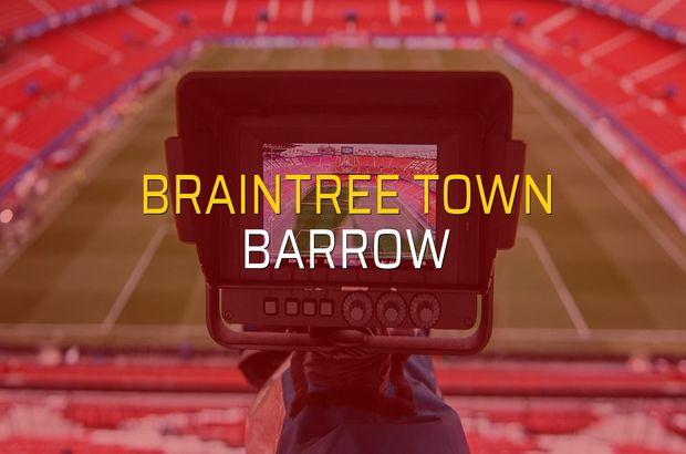 Maç sona erdi: Braintree Town: 0 - Barrow:2