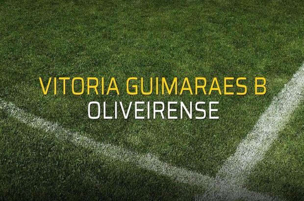 Vitoria Guimaraes B: 1 - Oliveirense: 1 (Maç sona erdi)