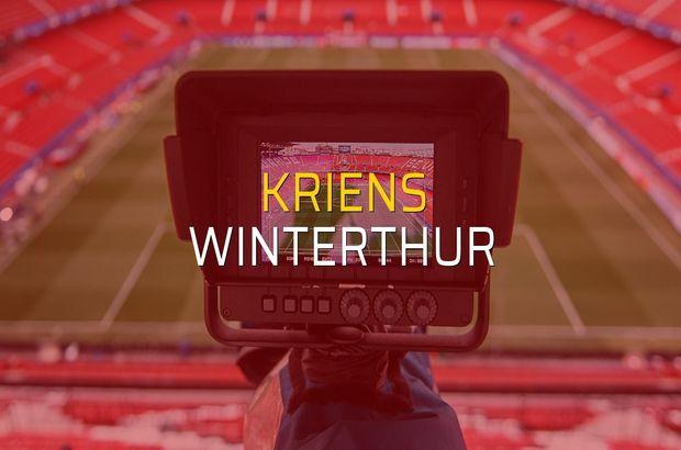 Maç sona erdi: Kriens: 1 - Winterthur:1