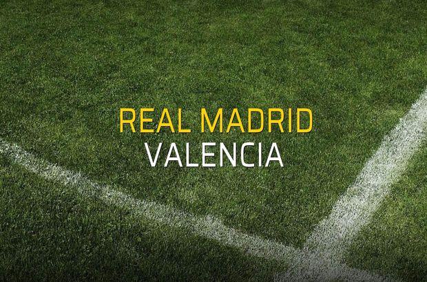 Real Madrid: 2 - Valencia: 0 (Maç sonucu)
