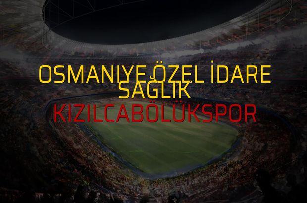 Osmaniye Özel İdare Sağlık: 1 - Kızılcabölükspor: 0 (Maç sonucu)