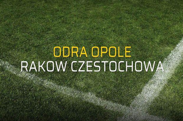 Maç sona erdi: Odra Opole: 0 - Rakow Czestochowa:1