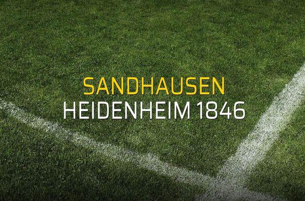 Sandhausen: 1 - Heidenheim 1846: 2