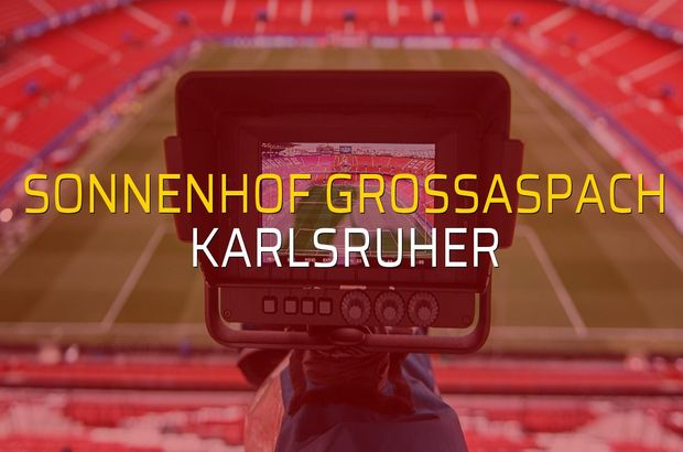 Maç sona erdi: Sonnenhof Grossaspach: 1 - Karlsruher:2