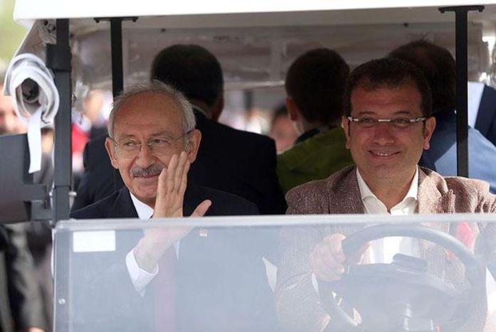 CHP lideri Kemal Kılıçdaroğlu ve Beylikdüzü Belediye Başkanı Ekrem İmamoğlu