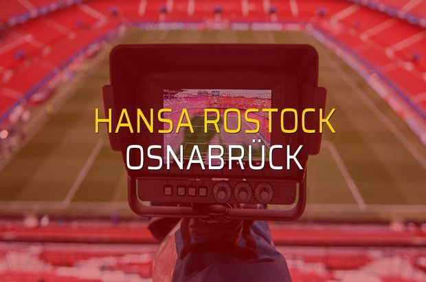 Maç sona erdi: Hansa Rostock: 1 - Osnabrück:1