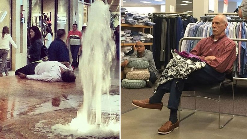 Bu karelerde 'dram' var! İşte alışveriş mağduru erkekler!