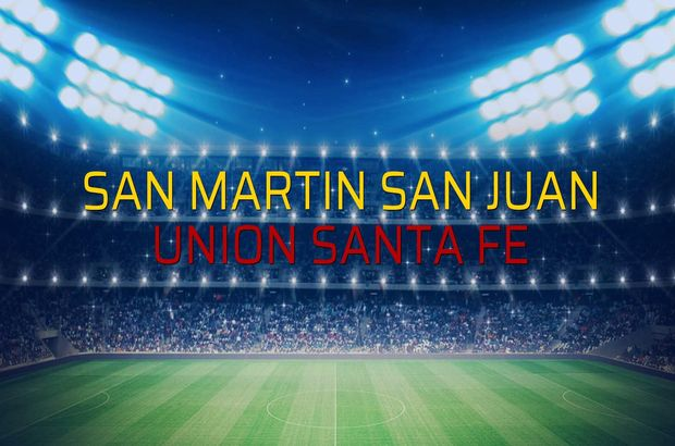 San Martin San Juan: 2 - Union Santa Fe: 0 (Maç sonucu)