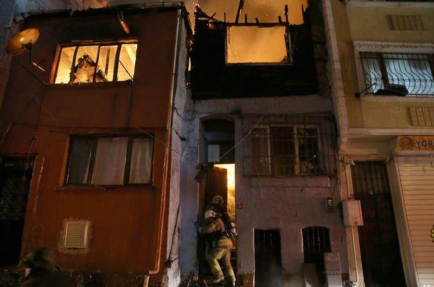 SON DAKİKA Beyoğlu yangın