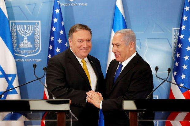 Binyamin Netanyahu Mike Pompeo ABD  İsrail
