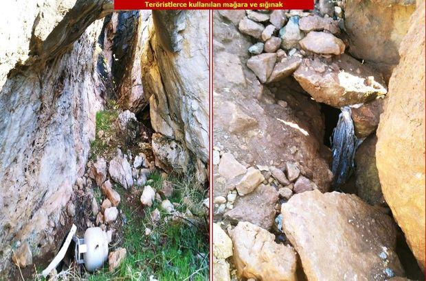 PKK'nın mağaraları imha edildi