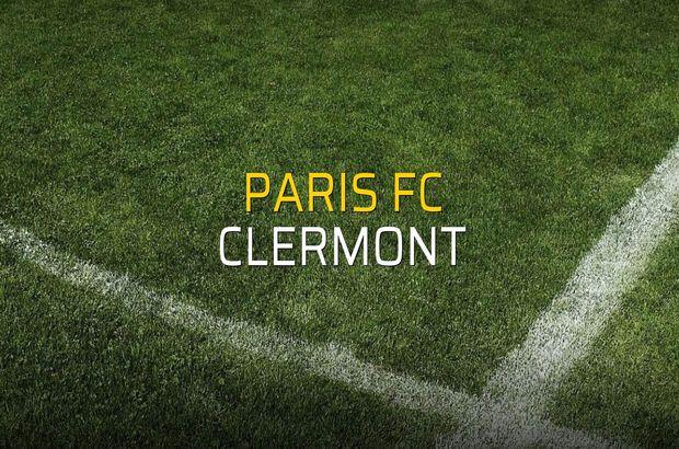 Paris FC - Clermont maçı istatistikleri