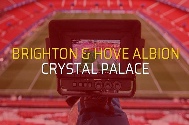 Brighton & Hove Albion - Crystal Palace maçı rakamları