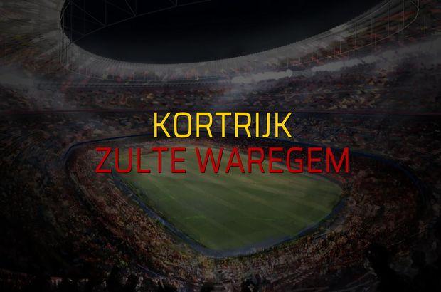 Kortrijk - Zulte Waregem maçı öncesi rakamlar