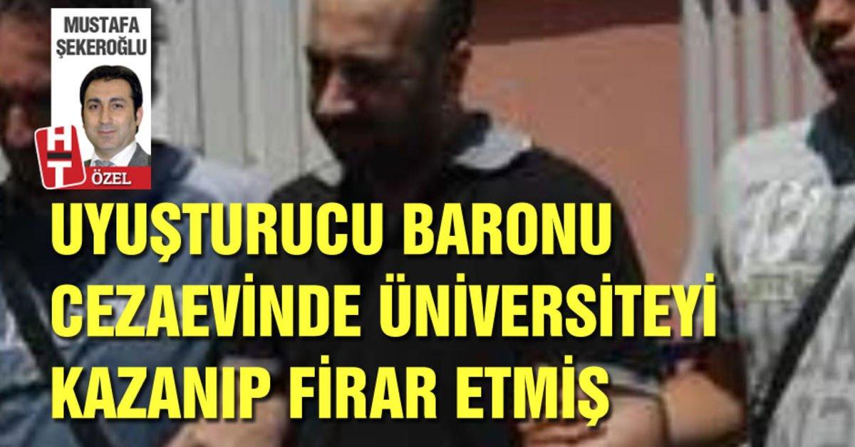 Uyuşturucu baronu cezaevinde üniversiteyi kazanıp firar etmiş