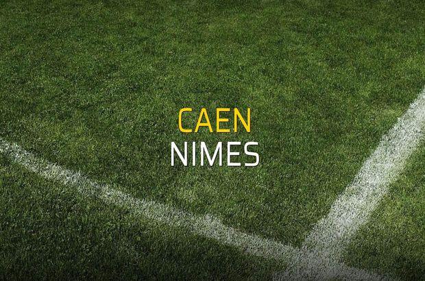 Caen - Nimes rakamlar