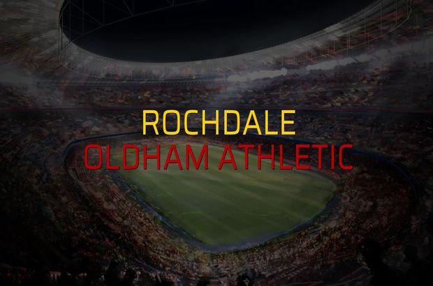 Rochdale - Oldham Athletic maçı istatistikleri