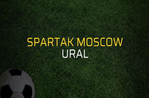 Spartak Moscow: 1 - Ural: 1 (Maç sonucu)