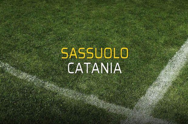 Sassuolo: 2 - Catania: 1 (Maç sona erdi)