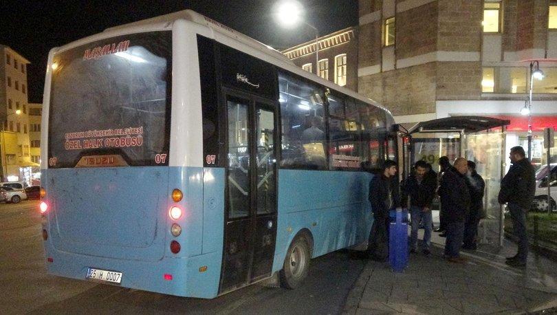 Freni boşalan halk otobüsü