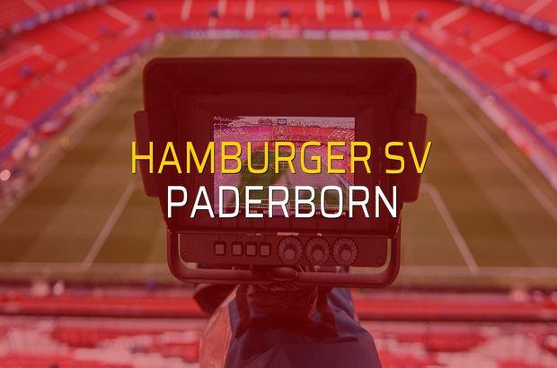 Maç sona erdi: Hamburger SV: 1 - Paderborn:0