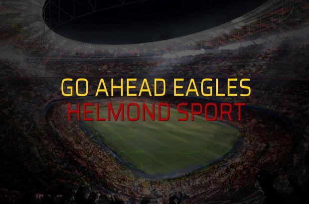 Go Ahead Eagles: 1 - Helmond Sport: 0 (Maç sona erdi)