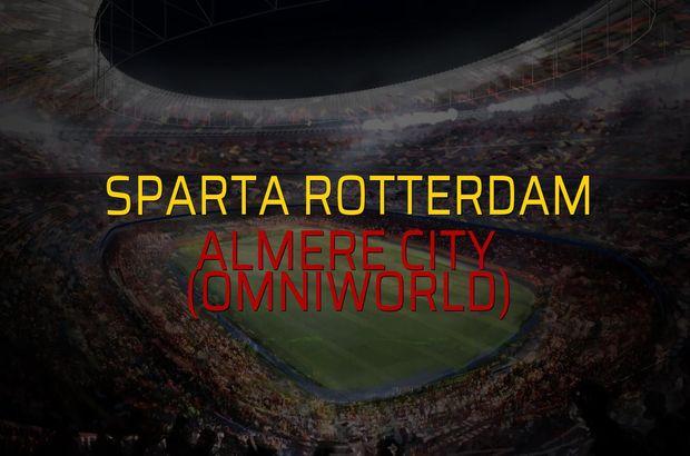 Sparta Rotterdam: 6 - Almere City (Omniworld): 1 (Maç sona erdi)