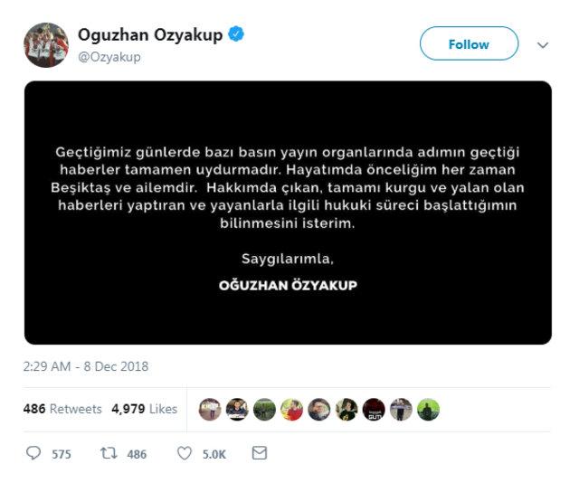 Oğuzhan Özyakup'dan Demet Özdemir açıklaması - Magazin haberleri